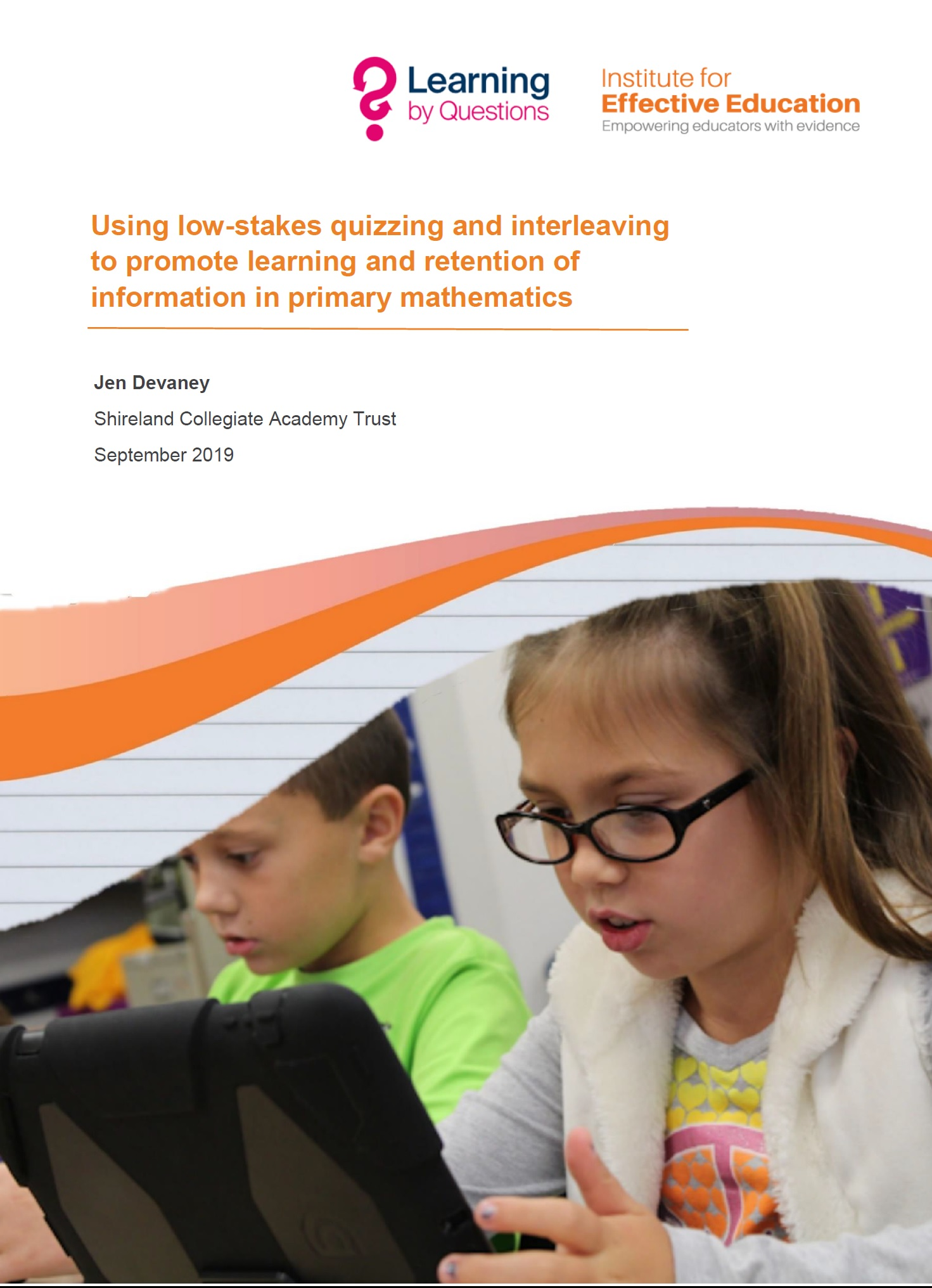 Using low-stakes quizzing and interleaving to promote learning and retention of information in primary mathematics